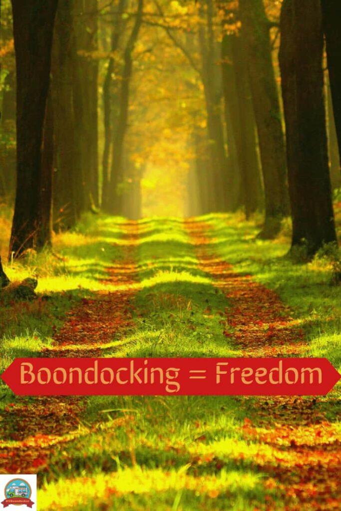 rv boondocking freedom