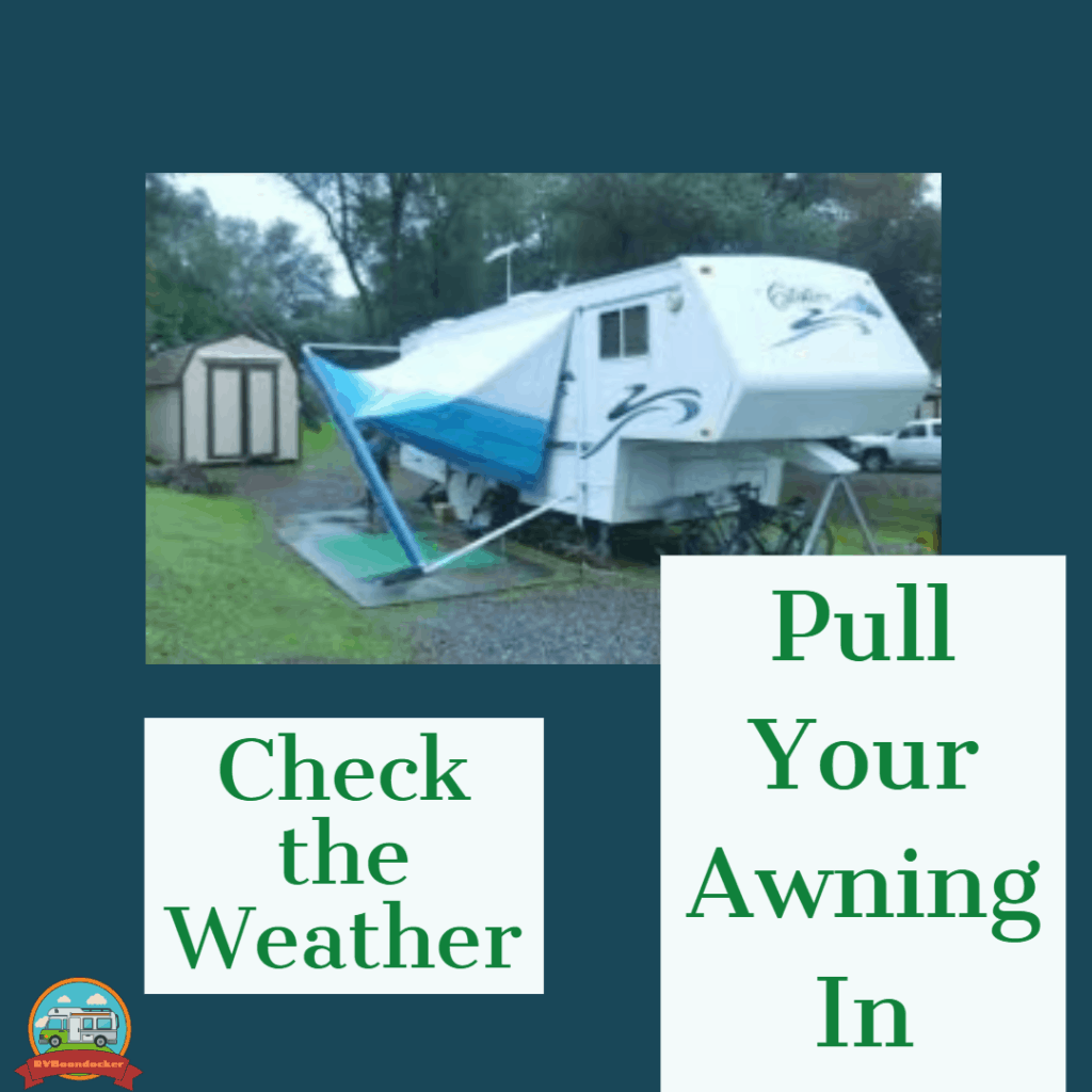 RV advice: Check the weather and pull your awning in