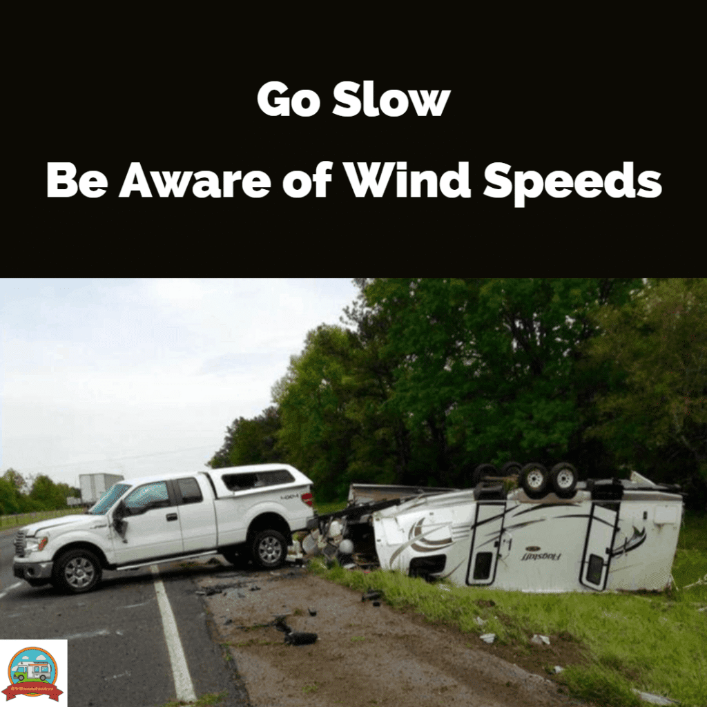 RV newbie mistake, driving too fast in the wind made an rv accident