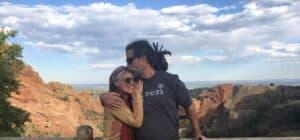 Gina and Tony at Red Rocks Colorado