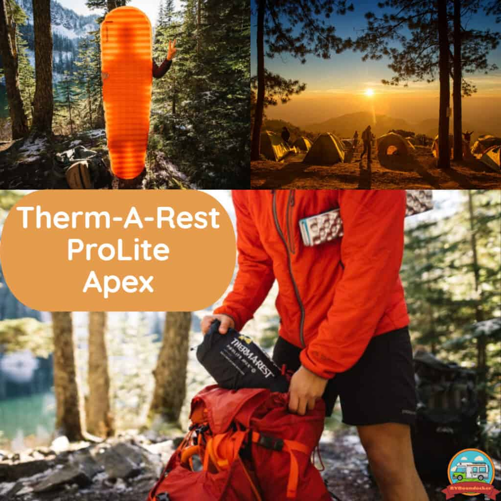 Thermarest prolite apex sleeping mat for camping
