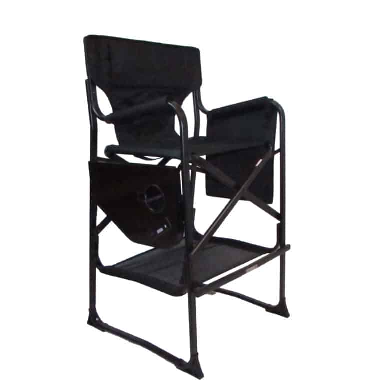 directors camping chair in black