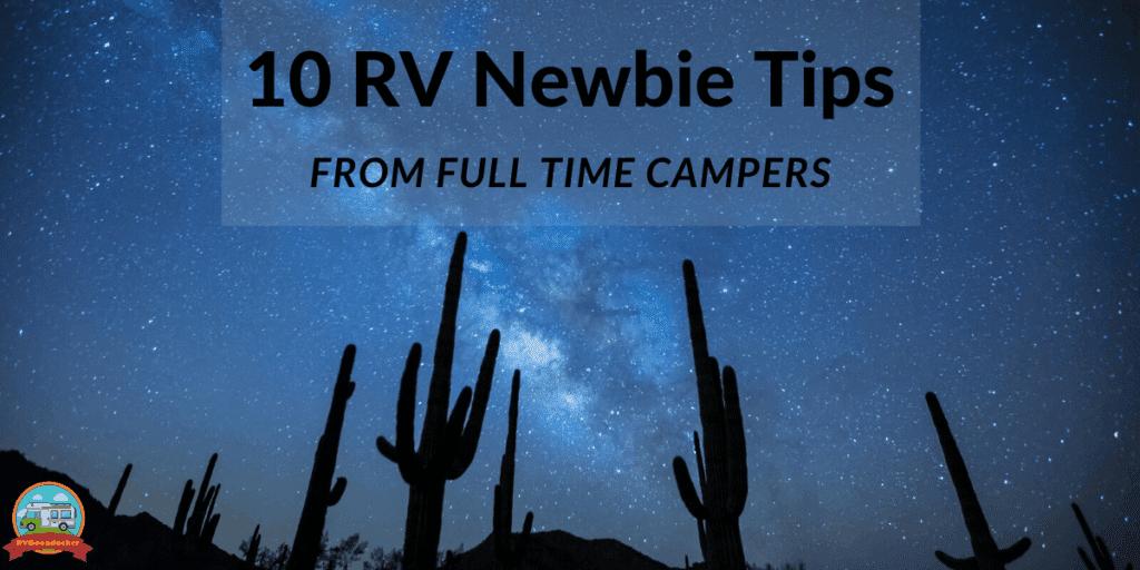RV Newbie Tips