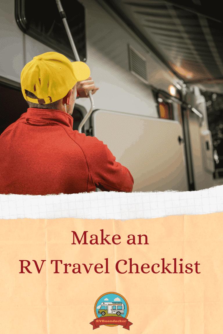 RV Travel Checklist