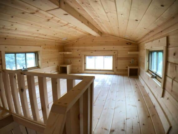 upstairs inside of a tiny home