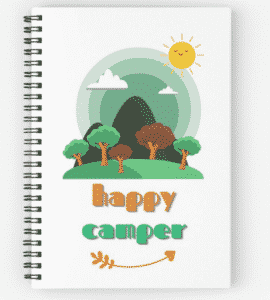 happy camper notebook