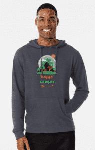 happy camper design hoodie
