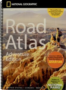 RV book road atlas from national geographic
