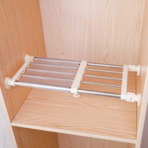 Tension Shelf & Rod Expandable Metal Storage Rack