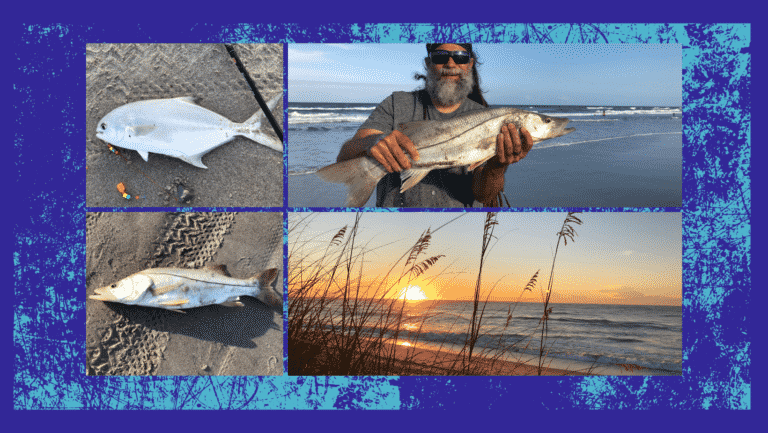 catching fish from the beach pompano and snook